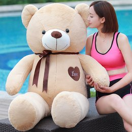 Wholesale Love Teddy Bear Doll - New stlyle love heart TEDDY BEAR plush Dolls Big Teddy Bear Birthday Gift Plush Toy