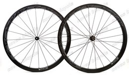 Wholesale Cycling Clincher - Urltra-Light 700C 25mm Width Carbon Wheels 38mm depth Clincher Road Cycling Wheelset with dt350 Hubs freeshipping