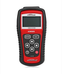 Wholesale Digital Automotive Battery Analyzer - KONNWEI KW808 Auto OBDII EOBD Scaner Diagnostic Tool Errors Code Reader Scanner OBD2