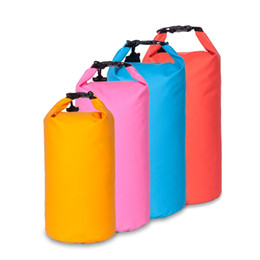 Wholesale Dry Bag Rafting - 10L 20L PVC Waterproof Dry Bag for Boating Kayaking Fishing Rafting Camping Swimming Floating with Shoulder Strap