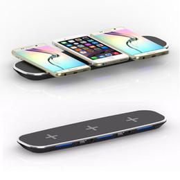 cargador inalámbrico de puerto Rebajas Cargador inalámbrico 3 en 1 Qi con 2 puertos de carga USB para iPhone X 8 Samsung Galaxy Note 8 S8 + S7 S6 edge