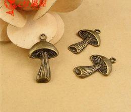 24 * 17 MM liga De Zinco bronze cogumelo encantos, coreano pingente de metal artesanal jóias novo ZAKKA material DIY acessórios do telefone móvel por atacado de