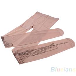 Wholesale Socks Machine - Wholesale- Sexy Machine Gun Tattoo Transparent Tights Stockings Pantyhose 0JR8