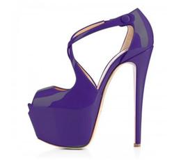 Wholesale Clear Platform Sandals - Wholesale-Plus Size US 4-15 New Elegant Women Sandals Platform Open Toe Spike Heels Sandals Customizable 8 Colors Shoes Woman