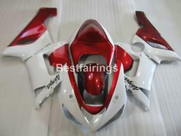 Wholesale Red White Zx6r Fairing - ABS plastic fairing kit for Kawasaki Ninja ZX6R 05 06 wine red white fairings set ZX6R 2005 2006 ZM20