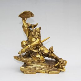 """Wholesale Pure Jazz - 9"""" Chinese Pure Brass Fengshui Zhongkui Zhong Kui Catch Ghost Statue Sculpture home decoration"""