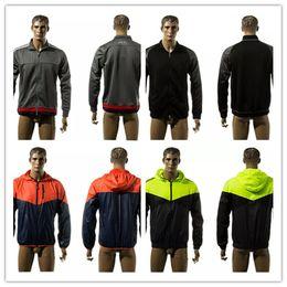 Wholesale Red Trench Jacket - Brand Soccer Jersey Hoodies Men's Jackets Long Sleeve Logo Fall Winter Sport Zipper Football Trench Hoodie