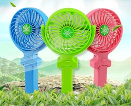 Wholesale Usb Foldable Fan - NEW Handy Usb Fan Foldable Handle Mini Charging Electric Fans Snowflake Handheld Portable For Home Office Gifts RETAIL BOX DHL free shipping
