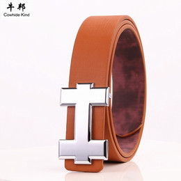 Wholesale Brown Belts Men - Wholesale- 2017 New Famous Brand Designer Belts Men High Quality Mens Belts Luxury Genuine Leather Pin Buckle Casual Belt Waistband PD32