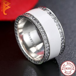 Wholesale Pink Cubic Zirconia Heart Ring - BELAWANG 3 Rounds White&Pink Cubic Zirconia Rings 925 Sterling Silver Crystal Carved Heart Ring Wedding Jewelry For Women Wholesale #678