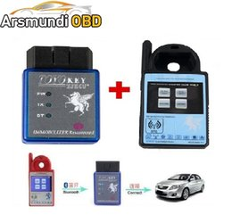 Wholesale H 46 - DHL free shiping Mini ND900 Transponder Key Programmer Plus Toyo Key OBD II Key Pro Support 4C 4D 46 G H Chips