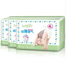 Wholesale Diaper Lock - Lowest Price 2017 Factory sale Wholesale Baby Diapers Economy Pack Three-demensional leakproof locks in urine Pull ups Size M L XL W17JS486