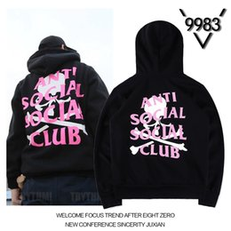 Wholesale men s skull heads - 2017 autumn new European and American tide street joint skull skull head letter printing men and women couples with hooded sweater