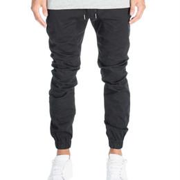 Wholesale Drop Crotch Pants Men - Designer Mens Harem Joggers Sweatpants Elastic Cuff Drop Crotch Drawstring Biker Joggers Pants For Men Black Red Green