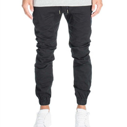 Wholesale Harem Pants Crotch - Designer Mens Harem Joggers Sweatpants Elastic Cuff Drop Crotch Drawstring Biker Joggers Pants For Men Black Red Green