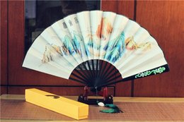 Wholesale Chinese Painted Silk - Chinese popular TV props fan To the Sky Kingdom   Eternal Love) China Wood Folding Kunlun Fan Hand Painted Ancient Props Folding Fan