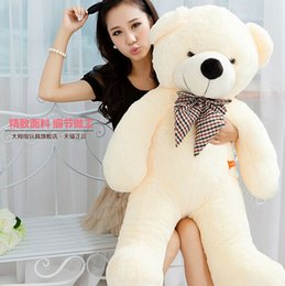 Wholesale Giant Teddy Bear Cheap - teddy bears plush toy 100CM Giant Teddy Bear Plush Toys Stuffed Ted Cheap Pirce Gifts for Kids Girlfriends Christmas P0209E