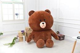 Wholesale Teddy Bear 2m - Free Shipping Animal plush toy Brown bear 0.7m 1.2m 2m 2.5m cute large bear PP cotton filled doll birthday girlfriend gift hug my teddy bear