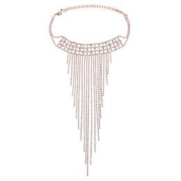 Canada Femmes Robe Bijoux Colliers Exagérer Élégant De Mode Cristal Choker Glands Collier Nuptiale De Fête De Mariage Porter DC37 Offre