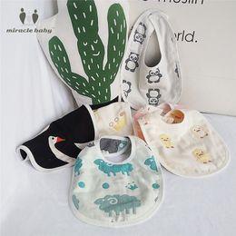 Wholesale Muslin Bibs - Wholesale- MIRACLE BABY 100% Cotton 6 Layer Muslin Feeding Bandana Burp Bibs Babador Burpy Bibs Cloths Scarf Towel for Newborns Unisex