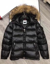 Wholesale Men Fashion Winter Vest - M364 anorak men winter jacket hommes real raccoon fur parka winter coat mens down jacket big fur coats vests homme