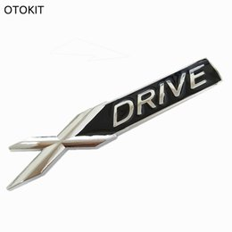 Wholesale Chrome Decals Stickers - 3D Metal Chrome Badge X DRIVE Emblem Badge Sticker Decal for BMW 3 4 5 6 7 All Series X1 X3 X5 E70 X6 E71 Car Decoration