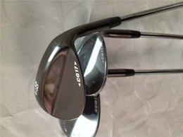 Wholesale Cg17 Wedge - 7 Wedges 7 Golf Wedge BlACK Golf Clubs 52 56 60 Degrees Steel Shaft With Head Cover