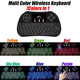Wholesale Minix Tv - minix Mini Rii I8 Fly Air Mouse backlit Wireless Keyboard Handheld 2.4GHz Touchpad Remote Control smart android tv boxes