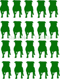 Wholesale Bull Dog Black - Wholesale 20pcs lot Automobile and Motorcycle with Products Vinyl Decal Car Stickers Glass Stickers 20 Pcs Staffordshire Bull Terrier Dog