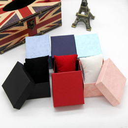 Wholesale Black Jewelry Pillows - Cheap New watch box gift Fashion jewelry boxes black red Blue Purple Pink High Quality watch case with pillow jewelry display storage box