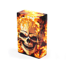 Wholesale Ghost Painting - Skull Head Ghost Cigar Cigarette Box Cases Hot Sale for Tobacco Smoke Smoker Glass Bong Water Pipe Wholesale