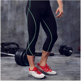 Wholesale Soccer Pants Wholesale - 2017 Running Base Layer Fitness Jogging Trousers Compression Tights Quick Dry Long Pants Sport Training Yoga Leggings Men Gym Soccer Wear