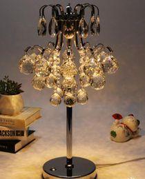 Wholesale Dc Dress - European simple modern bedroom bedside decoration crystal dressing lamp wedding lamp