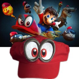 Wholesale Free People Hat - Game Super Mario Odyssey Hat Adult Kids Anime Cosplay Cap Handmade