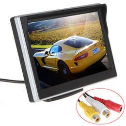Wholesale Car Front Camera Monitor - 5 Inch TFT-LCD Digital Car Rear View Monitor LCD Display for VCD DVD GPS Camera with Front Diaphragm CMO_324