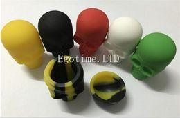 Wholesale Screw Skull - 2017 New design Assorted colors Skull Screw Top NonStick Silicone Container non-stick wax dab container silicone jar for wax vaporizer