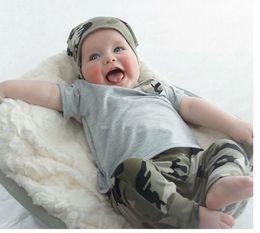 Wholesale Camouflage Pants Shorts Girls - Fashion Clothing Sets Baby Kids Clothing Summer Children's T-shirt long pants boys girls camouflage 2 pieces suit 1223