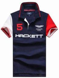 Wholesale Tee Shirt Boy London - Hackett New HKT Sport Men Casual Polo Shirt London brand Design Polo Shirts Boys Tops Tees Classical Polos