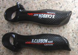 Wholesale Cycle Handlebar Ends - X-carbon VKT Full Carbon fiber Bar Ends Handlebar MTB Bicycle Ergonomic Mountain Bike bar ends cycling parts 115g