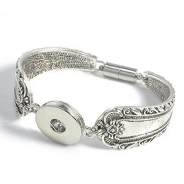 Wholesale Noosa Chunks Bracelets - Noosa Snap Button Bracelets Magnetic Clasp Noosa Chunks Snap Bracelet Fit 18MM Button Interchangeable Snap Button Jewelry