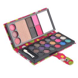 Wholesale Eyeshadow 26 Colors - 26 Colors Eyeshadow Natural Waterproof Make Up Blush Eyebrow Powder Eye Shadow Makeup Palette PU Cosmetic Beauty Accessories