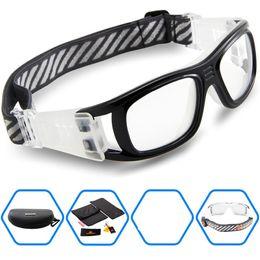 Wholesale Goggles Sports Glasses Eyewear Basketball - Wholesale-2016 Protective Men's Sports Goggles Eyewear Glasses for Adult Basketball Football Soccer Hockey Rugby Tag Dribble eyeglasses