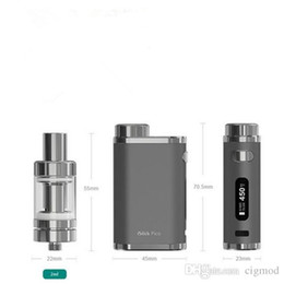 Wholesale Silver Leafs Wholesale - E leaf iStick Pico 75W Kit Firmware Upgradeable Starter Kit 75W Temperature Control Mod with Eleaf Melo III Mini Atomizer