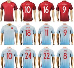 2017 Turquia Futebol Jersey Tailândia Personalizado 10 ARDA 9 TOSUN 8 INAN  9 SUKUR 18 ERKIN 11 SAHAN Uniforme de Camisa de Futebol Kits de Pé turkey  ... 794313ff1213d
