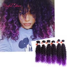 Wholesale Kinky Curly Braiding Weave - 2017 synthetic braiding hair blonde extensions kinky curly,loose wave ombre hair burgundy weave sew in hair extensons for black women