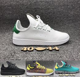 Pharrell Williams Originals Stan Smith Clásico todos los zapatos de deporte de entrenador negro Zapatillas de running de hombre szie 40-44
