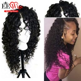 Wholesale Cheap Long Synthetic Hair Wigs - Synthetic Lace Front Wigs For Black Women Heat Resistant Long Curly Lace Front Synthetic Wigs Cheap Fiber Hair Wigs In Stock