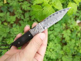 Wholesale Knife Hrc - 2017 High-quality Folding Blade Knife 63 HRC Damascus Knives Carbon fiber Handle HRC 62 Damascus Steel Blade Pocket Tool