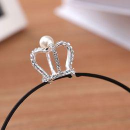 Wholesale Mini Crown Headband - Mini Round Trendy Hot Sale Cute Rhinestone Tiara Hair Band Kid Girl Bridal Princess Prom Crown Headband Hot Sale Hair Accessories