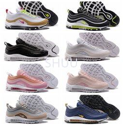 Wholesale Neon Green Laces - High Qualty Air 97 Ultra Wolf Grey Neon Black Pink Snakeskin Running Shoes 97 Premium White Gold 95 OG Designer shoes 36-46
